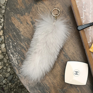 FOX FUR TAIL - Beige  /20%Sale/