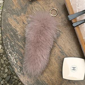 FOX FUR TAIL - Pink  /20%Sale/