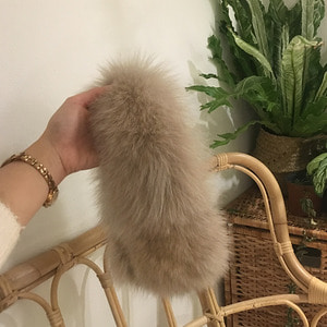 Fox Fur Muffler - Beige /15%Sale/